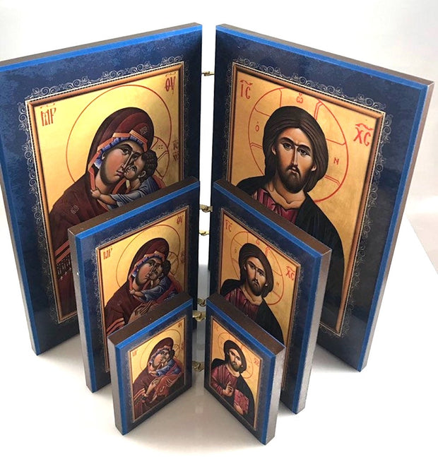 Orthodox Wooden Icon Diptych - anastasisgiftshop.com