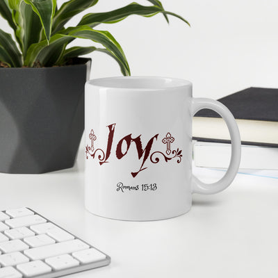 May the God of hope fill you with all joy Romans 15:13-White Ceramic Mug - anastasisgiftshop.com