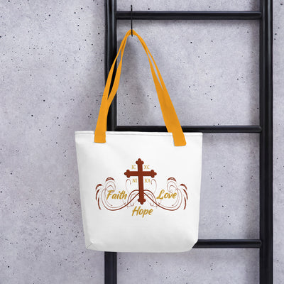 Faith Hope and Love Tote Bag - anastasisgiftshop.com