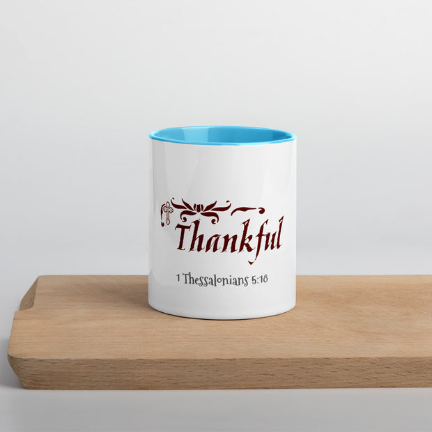 In Everything Give Thanks-Mug with Color Inside - anastasisgiftshop.com
