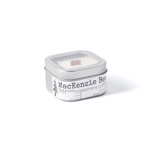 Mackenzie Beach 4oZ wood wick travel candle