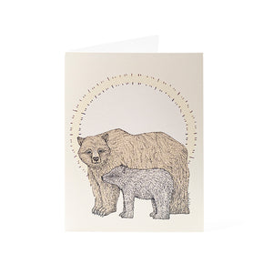 "Cards 4.25"" x 5.5"" - Mother's Day Bear and Cub"