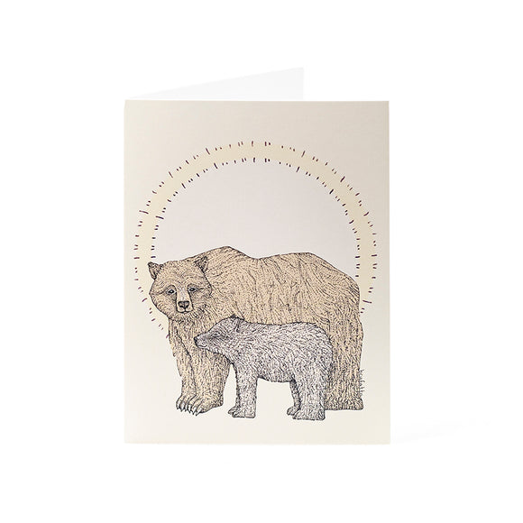 Bear and Cub Card 4.25x5.5