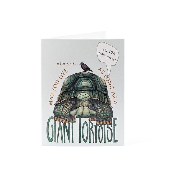 Giant Tortoise Birthday Card 4.25x5.5