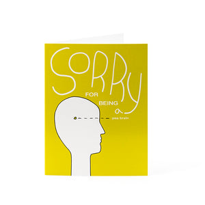 "Cards 4.25"" x 5.5"" - Sorry for being a pea brain"