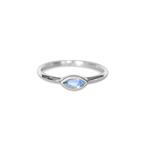 Marquise Ring - Silver & Moonstone