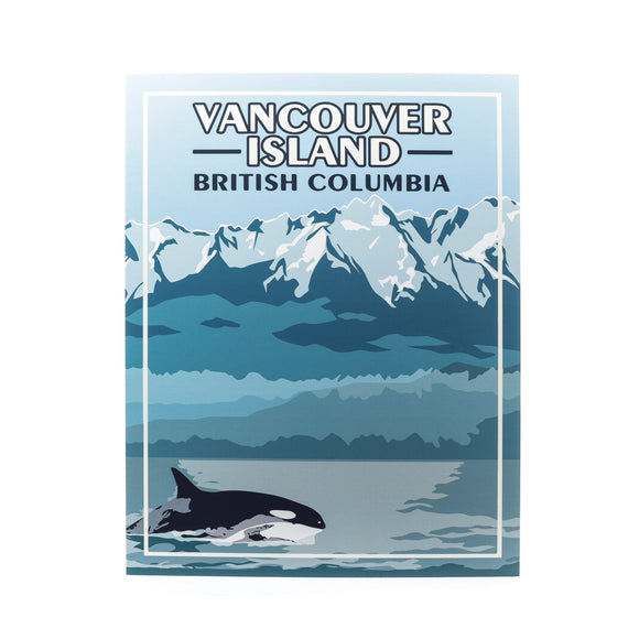 BC Printed Art Vancouver Island Orca