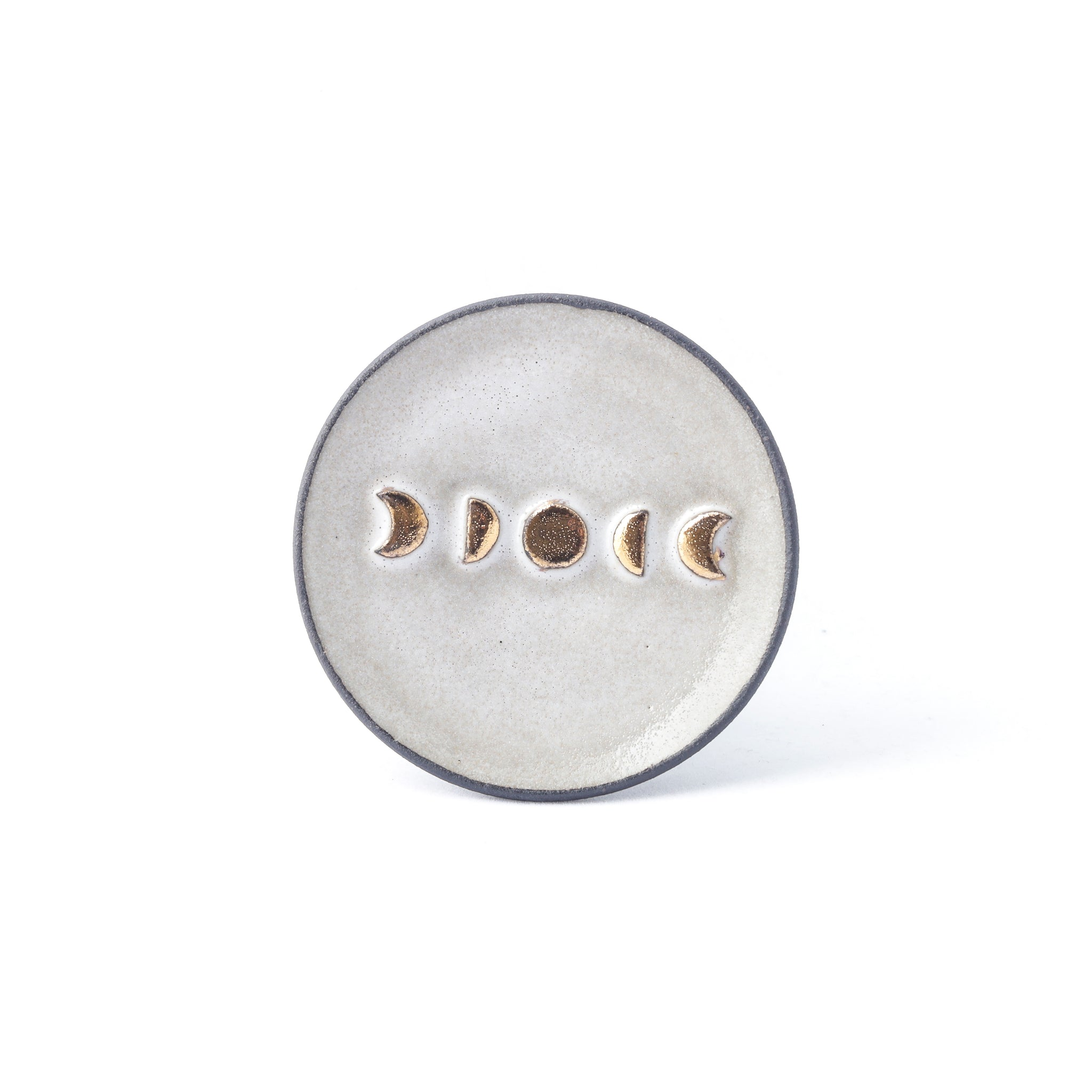 Moon Phase Ring Dish with gold detail