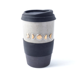 Moon Phase Travel Mug with gold detail