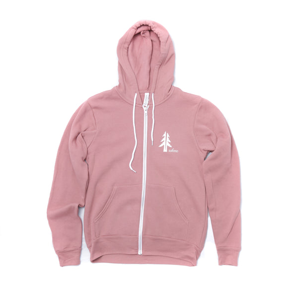 Two Trees Tofino Mauve Zip-Up Hoodie