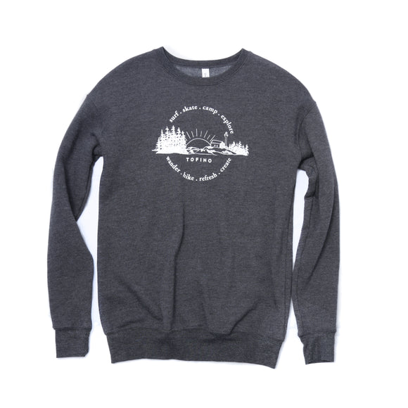 Chesterman Dark Grey Heather Crewneck