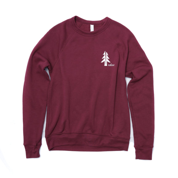 Two Trees Maroon Raglan Crewneck