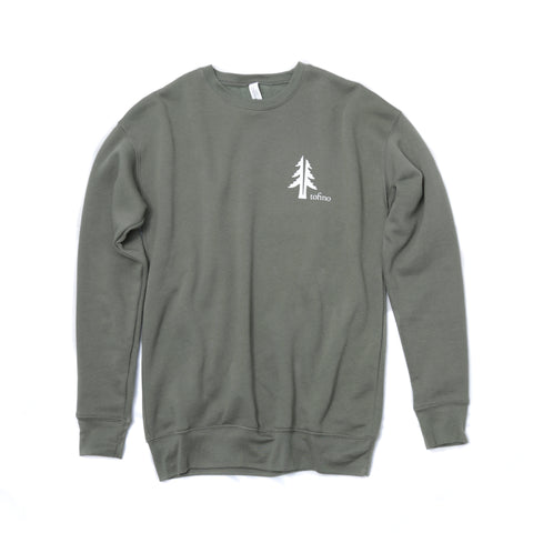 Two Trees Tofino Military Green Crewneck