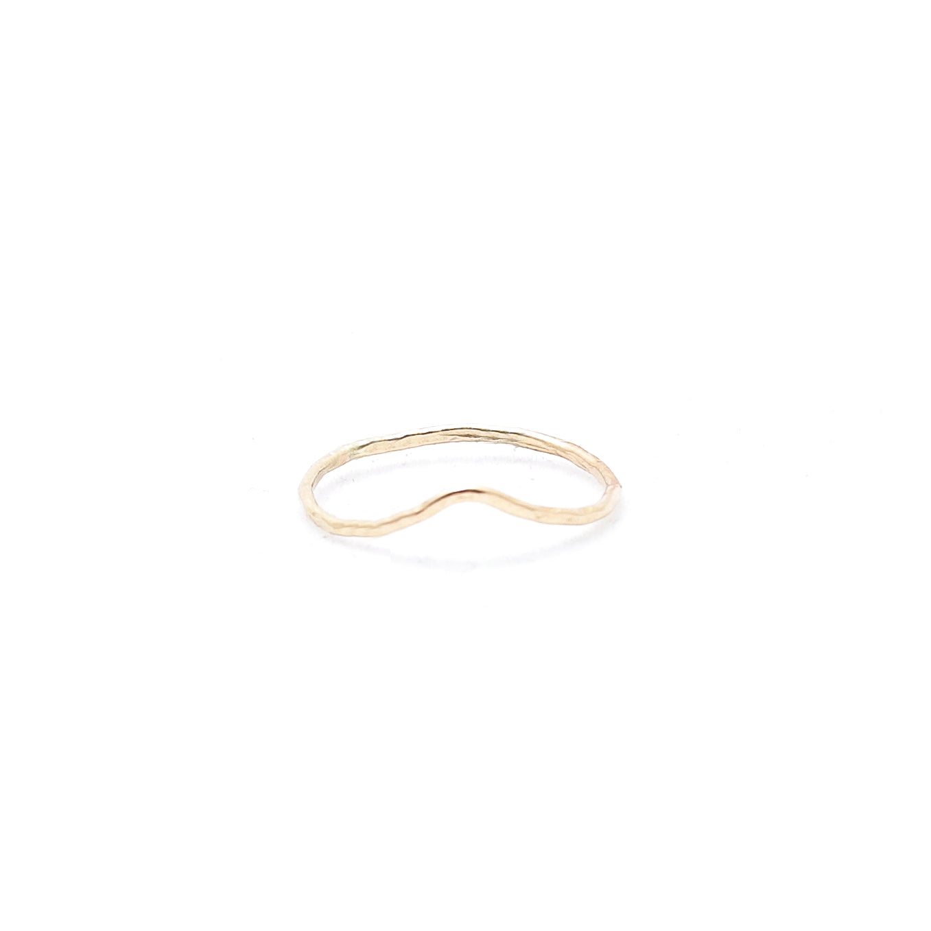 Gold Chevron Stacker Ring