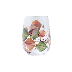 Stemless wine glass - Fall Leaves