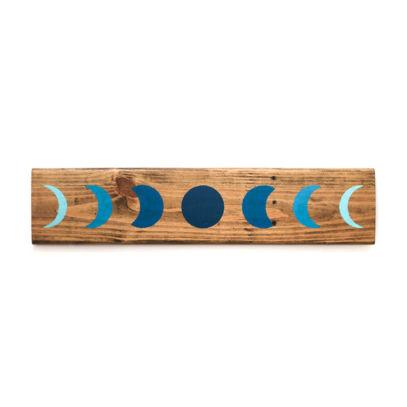 Moon Phase wood wall art