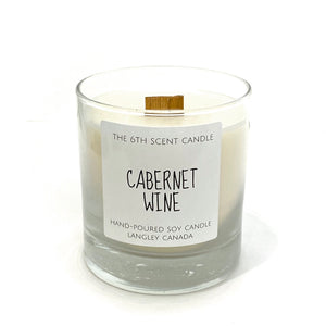 Cabernet Wine Woodwick candle
