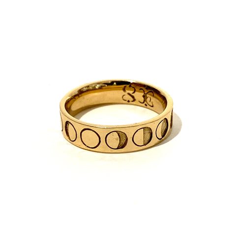 Moon Phase Ring in Bronze