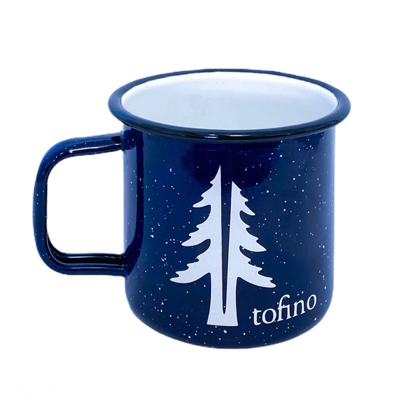 Two Trees 16oZ enamel camping mug Navy