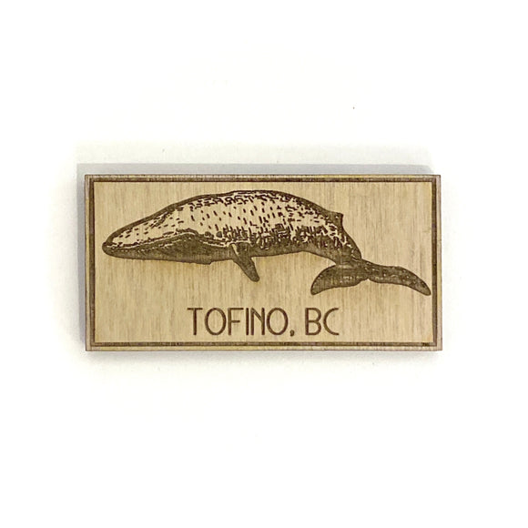 Grey Whale Carved Wooden Magnets