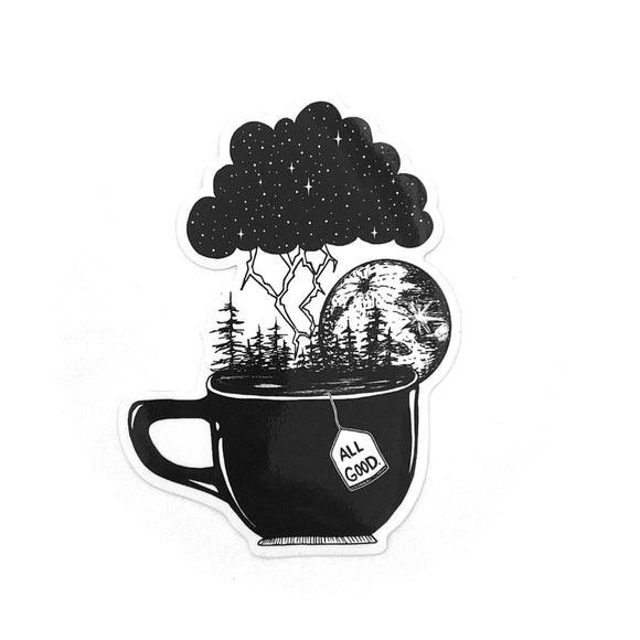All Good Tea Cup sticker