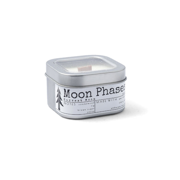 Moon Phases 4oZ wood wick travel candle