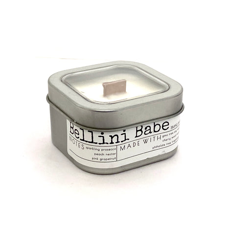 Bellini Babe 4oZ wood wick travel candle