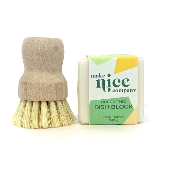 Dish Block & Scrubber set