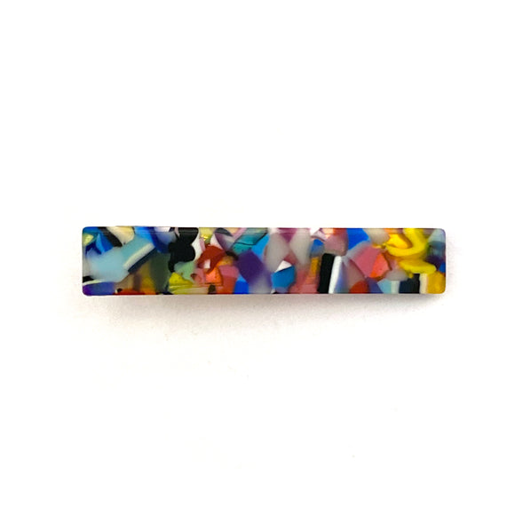Wildflowers Hair Clips Narrow Rectangle