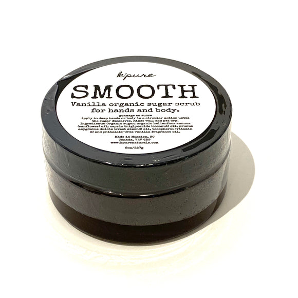 Smooth Organic Sugar Scrub for Hands & Body - 8oz