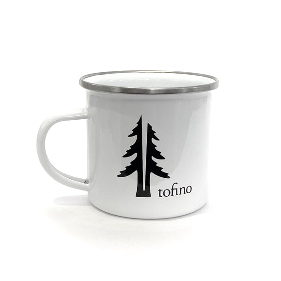 Two Trees 12oZ enamel camping mug