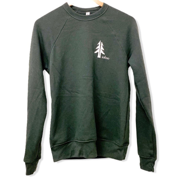 Two Trees Tofino Forest Green Raglan Crewneck