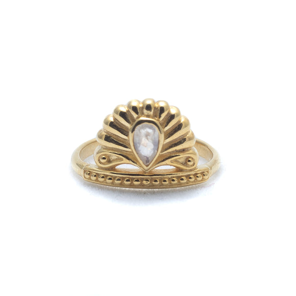 Cozumel Gold Vermeil & Moonstone Ring