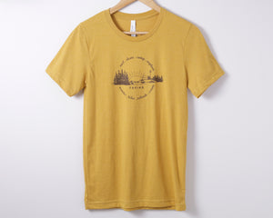 Chesterman Beach Heather Mustard Unisex Tee Shirt