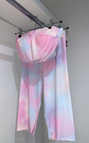 Boob Tube Fitted Tie Dye Set - nicolexlondon