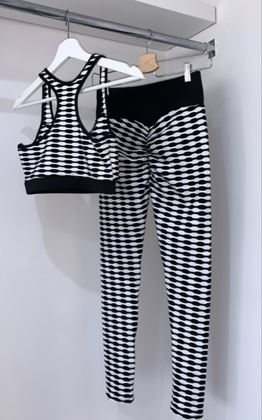 Black & White Patterned Gym Set - nicolexlondon