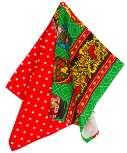 Kitchen Towel Matryoshka Polka Dots Cotton Imported from Russia