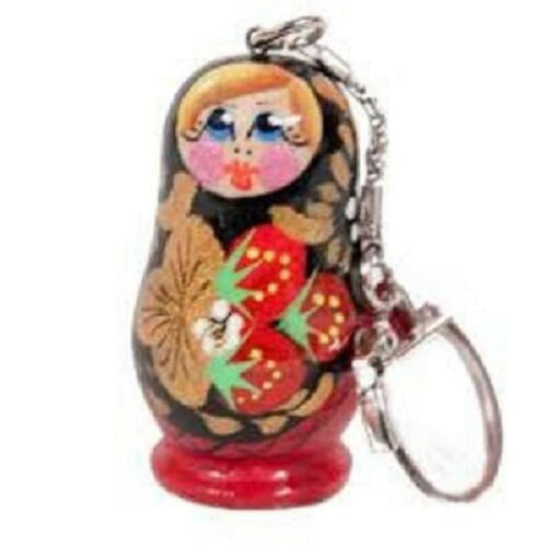 Russian Matryoshka Key Chain Strawberry Meadow