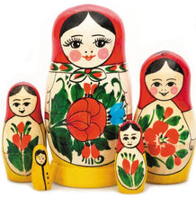 Load image into Gallery viewer, Russian Hand-painted Matryoshka Nesting 5 Dolls Set Import