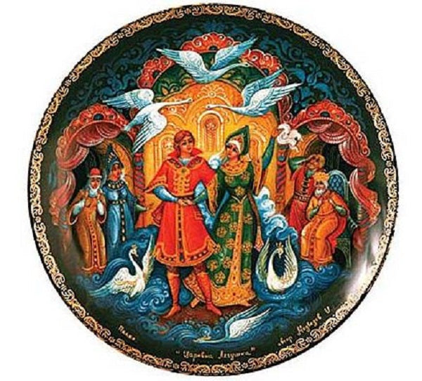 Russian Palekh Decorative Plate The Frog Princess