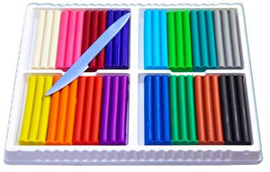Plastiline Reusable Soft Modelling Clay Set of 16 Colors Imported