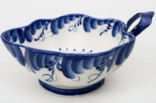 Load image into Gallery viewer, Russian Porcelain Handmade, Hand-Painted Scalloped Rim Salad Bowl Leaf #2 Signed Import