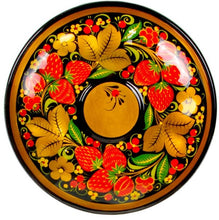 Load image into Gallery viewer, Strawberry Russian Khokhloma Saucer Porcelain Hand Painted