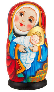 Nativity Russian Matryoshka Nesting 5 Dolls Set Hand-painted