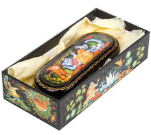 Load image into Gallery viewer, Russian Palekh Miniature Lacquer Jewelry Boxes