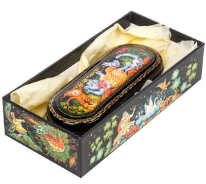 Russian Palekh Miniature Lacquer Jewelry Boxes