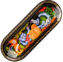 Load image into Gallery viewer, Russian Palekh Lacquer Eyeglass Case CAT