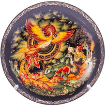 "Load image into Gallery viewer, Handcrafted PALEKH Decorative Porcelain Plate 3-piece Set ""Firebird"""
