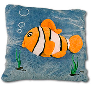 plush velvet decorative velour throw pillow cushion fish