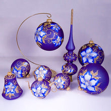 Load image into Gallery viewer, Christmas Tree Ornament Set Glass Handmade Imported